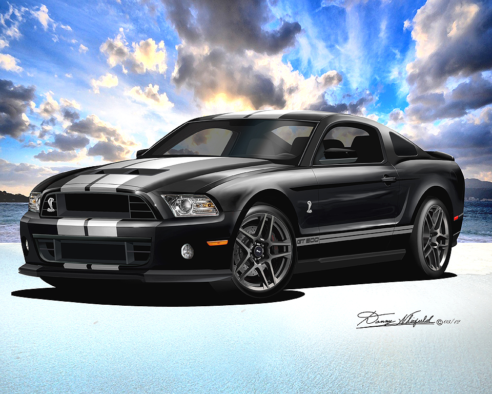 2013 2014 ford mustang fine art prints posters by danny whitfield. Black Bedroom Furniture Sets. Home Design Ideas