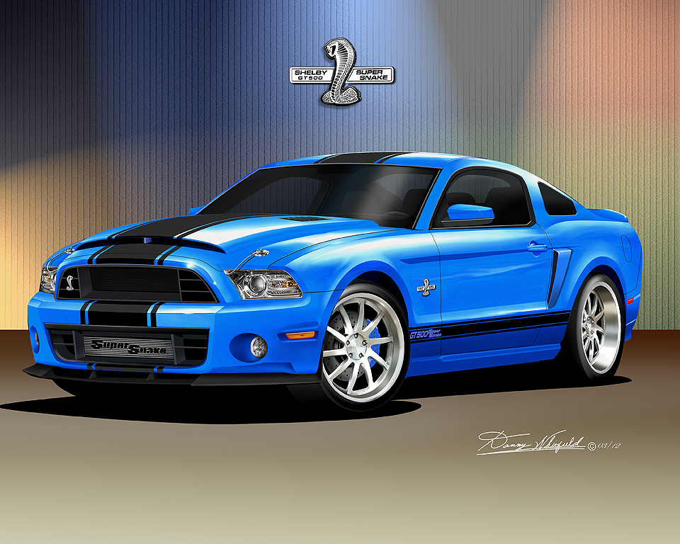 2013 2014 ford mustang fine art prints posters by danny whitfield item mss 21 2013 2014 mustang shelby gt500 super snake grabber blue sciox Image collections