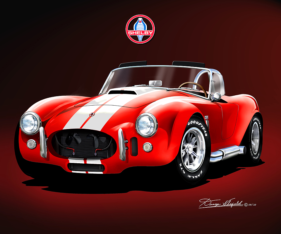 Shelby AC Cobra 427 Fine art print poster by artist Danny ...