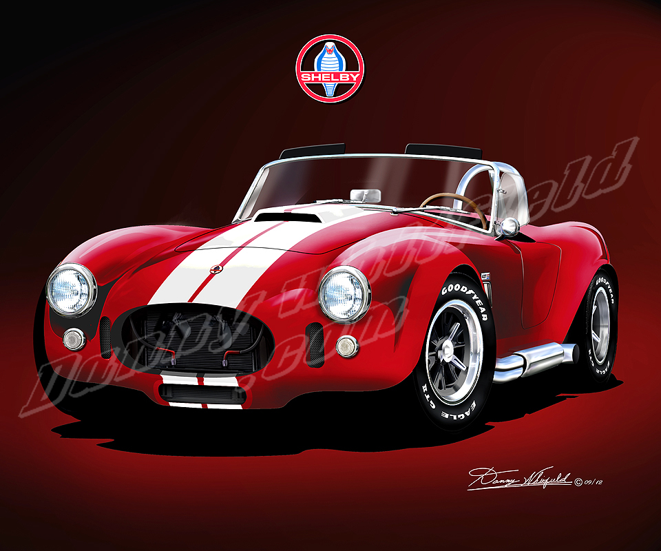 shelby ac cobra 427 fine art print poster by artist danny. Black Bedroom Furniture Sets. Home Design Ideas