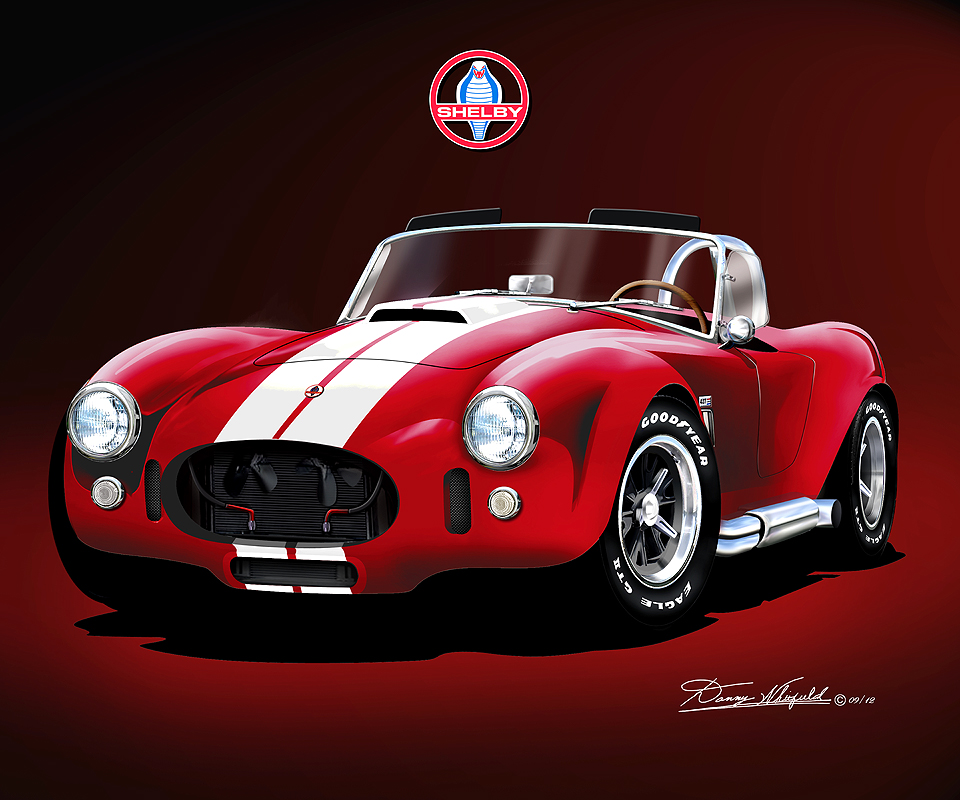 shelby ac cobra 427 fine art print poster by artist danny whitfield. Black Bedroom Furniture Sets. Home Design Ideas