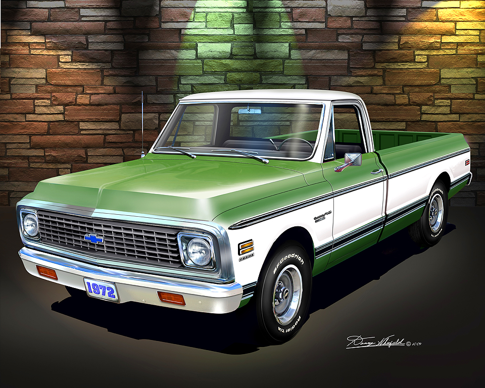 Classic Trucks Fine art prints and poster by artist Danny Whitfield