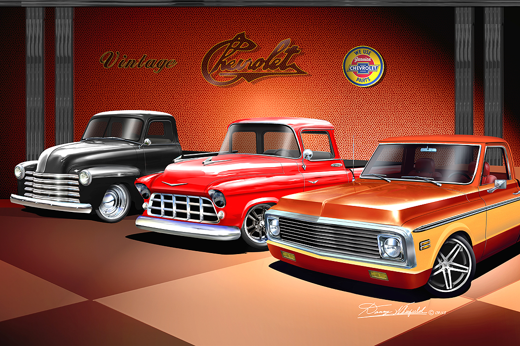 Classic Truck Fine Art Prints By Artist Danny Whitfield