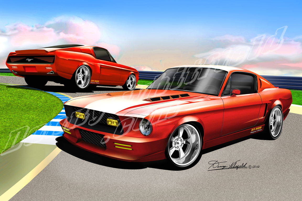 1967- 1968 Ford Mustang Fine Art Prints & Posters By Danny