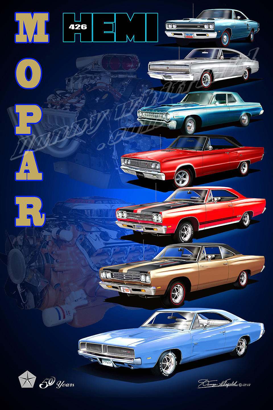 Dodge Charger Super Bee Fine Art Print Poster By Artist