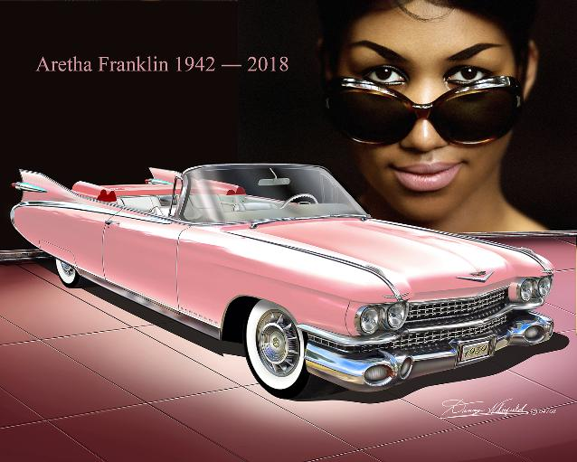 Cadillac Fine Ar Prints By Danny Whitfield, A Tribute To